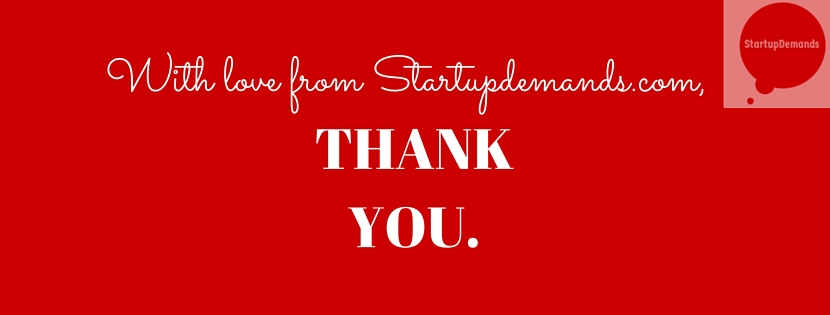 Thank you from Startupdemands