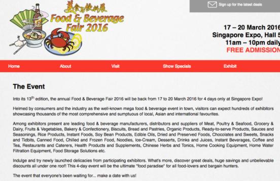 World Food Fair Singapore (2016)