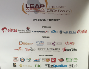 The name of all the sponsors of the Leap Africa 11th annual CEO's forum