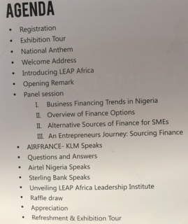 Leap Africa CEO's forum 2016 agenda
